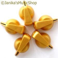 5 Gold chicken head knobs smooth/splined/D shaft potentiometer knob pot switch