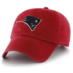 New England Patriots '47 Brand Red CLEAN UP Adjustable Hat