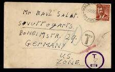 1948 AUSTRALIA WALKERVILLE TO GERMANY POSTAGE DUE