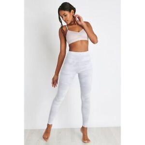 NWT Alo Yoga High Waist Rise Full Length Vapor Legging White Camouflage X Small