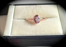Morganite Solitaire Rose Gold Fine Rings