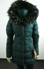 NWT Womens The North Face TNF Fur HD Down Parkina Parka Warm Winter Jacket Green