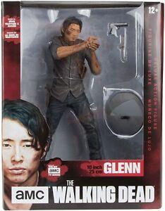 """The Walking Dead Figurine Glenn Legacy Edition McFarlane 10"""" NEW DAMAGED BOX"""