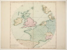 An Accurate Map of Great Britain, France & Ireland London Laurie & Whittle 1794