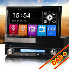 "7"" Ausfahrbar Universal 1 Din Autoradio GPS DAB+ Bluetooth DVB-T2 USB SD Navi CD"