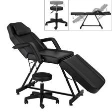 Adjustable Hydraulic Massage Bed Chair W/stool Beauty Spa Tattoo Salon Equipment
