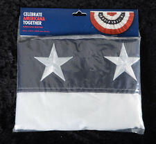 American Pleated Patriotic FLAG BUNTING 5 Stripe - Red, White & Blue Stars ~NEW~