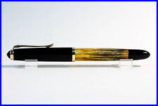 DF Nib PELIKAN 400 NN Fountain Pen 14K Nib / BROWN, YELLOW AMBER TORTOISE & GOLD