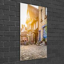 Wandbild Kunst-Druck auf Hart-Glas senkrecht 50x100 Bezaubernde Straße