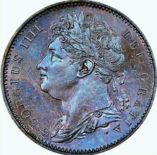 1825 ENGLAND GEORGE IV COPPER FARTHING NGC GEM MS-65 BROWN