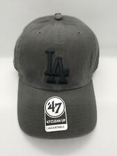 47 CLEAN UP ADJUSTABLE HAT.  MLB.  LOS ANGELES DODGERS.  CHARCOAL GRAY.