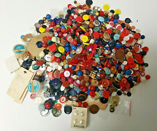 Lot of Vintage Sewing Buttons Various Size Shape Material Colors 2 pounds 14 oz