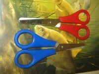 2 X STAINLESS STEEL BRAID LINE SCISSORS FOR CARP SEA FISHING SUPER SHARP KNIGHTS