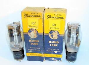 2 NIB Silvertone 5Z3 rectifier tubes w/hanging filaments.  WWII production.