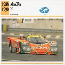 1988-1990 MAZDA 767 Racing Classic Car Photo/Info Maxi Card