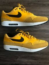 Men's Nike Air Max 1 Premium University Gold White Black Shoes Sz 14 BV1254-700