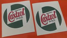 "x2 CASTROL Oil Classic Vintage Old Style Car Stickers 150mm/6"" 7-10 year vinyl"