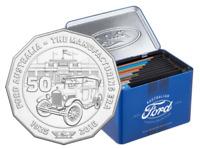 1934 Model 40 Coupe Utility FORD Car 2017 Australia 50c Coloured Unc Coin