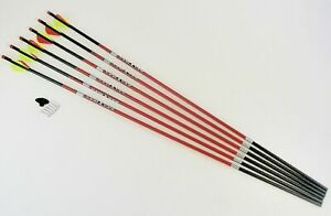 CX Carbon Express Maxima Red SD 6-Pack 350 Spine Bow Hunting Arrows