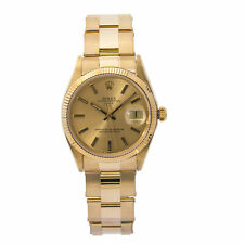 Rolex Date 1503 Automatic 18k Yellow Gold Rare Champagne Dial Mens 34mm
