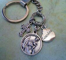 Grandma Keychain, St. Christopher, Travel Protection, Patron Saint of Travelers