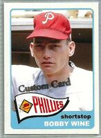 BOBBY WINES PHILADELPHIA PHILLIES 1965 STYLE CUSTOM MADE BASEBALL CARD BLANK