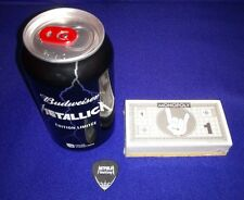NEW RARE METALLICA Christmas Pack Empty Budweiser Can Monopoly Money Guitar Pick