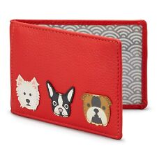 Soft Leather Dog Travel Pass / Oyster Card Holder by Yoshi - SPECIAL OFFER