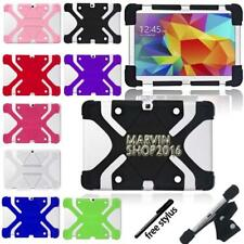 Fit Various Samsung Galaxy Tablet -Shockproof Silicone Stand Cover Case + stylus