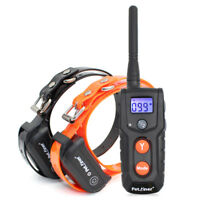 Petrainer Waterproof Rechargeable Dog Training Shock Collar For Remote 2 Dogs