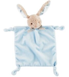 Easter Bunny Rabbit Security Blanket Lovey blue Baby Rattle celebrate rattle