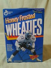 Dallas Cowboys Deion Sanders 1995 Honey Frosted Wheaties Unopened Cereal Box