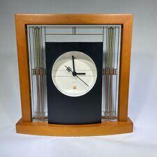 New ListingBulova Mantel Clock Frank Lloyd Wright The Willits Table Clock Wood