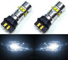 LED 50W 12183 PW19W White 5000K Two Bulbs DRL Daytime Running Light Volvo