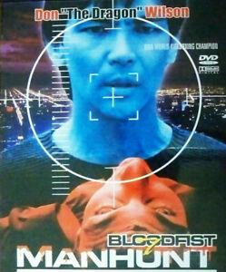 Bloodfist 7: Manhunt - DVD - Don 'The Dragon' Wilson ,Johnathan Penner RARE OOP