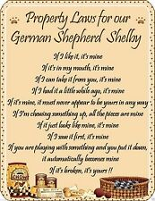 German Shepherd Instructional Dog Signs & Plaques