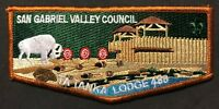 TA TANKA OA LODGE 488 BSA SAN GABRIEL VALLEY COUNCIL CA PATCH BUFFALO FORT FLAP