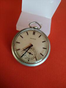 Vintage Movado Grisite Art Deco 45mm 1920s 4Adj 15J Pocket Watch_300