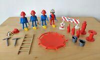 Vintage Playmobil Firemen & Equipment Bundle   Geobra  1974