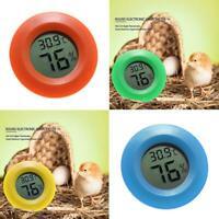 Circular Digital Thermometer Reptile Electronic Hygrometer Pet Detector W0M5