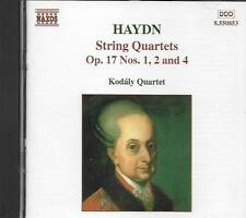 CD album: haydn: String Quartets Op.17 N°1,2,4. kodaly Quartet. Naxos. N