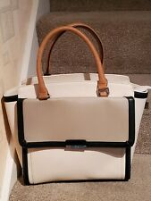 Laura Ashley Large Faux Leather Tote /Shopper Bag - Tan New
