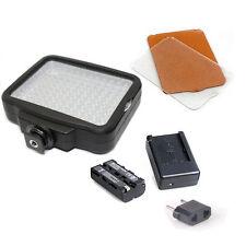 120 LEDs Video Light + NP-F550 battery for Canon Nikon Camera DV Camcorder