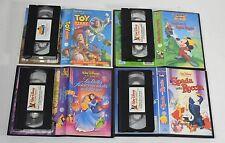 Walt disney home video lotto 4 VHS cartoni Topolino Toy Story Spada Roccia -LB