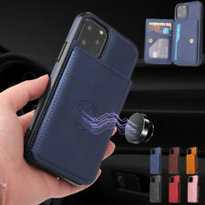 Magnetic Leather Wallet Case Flip Stand Cover For iPhone 11 Pro Max XS X 8 7 6s