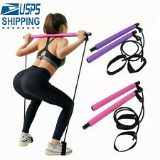 Pilates Bar Kit Resistance Band Protable Yoga Pilates Stick Exercise Fitness Bar