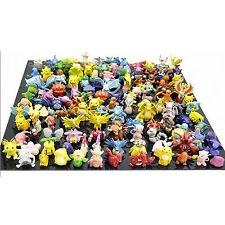 Pikachu Pokemon Action Figures Toy Lot 144 Pcs Go Mini 2 3 CM Monster Toys Set