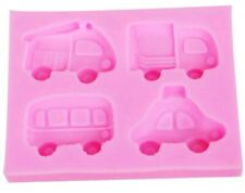 CAR SILICONE MOULD/VEHICLE MOLD-FIMO/ICING/CAKE TOPPER/CARTOON BUS/TAXI/TRUCK