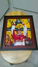 Kevin Harvick  NASCAR Racing Budweiser Signed Trophy 11x14 Framed Photo