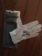 BOO WEEKLEY  PGA STAR SIGNED gold glove. Srixon, size large - brand new